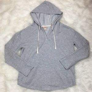 Mossimo Sweatshirt Medium Gray V Neck Hoodie M